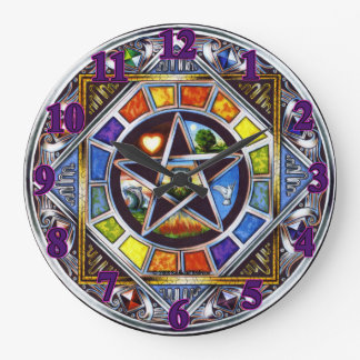 Blessing of Elements Wall Clock