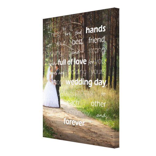 Blessing Of The Hands Wedding Custom Photo Canvas Print