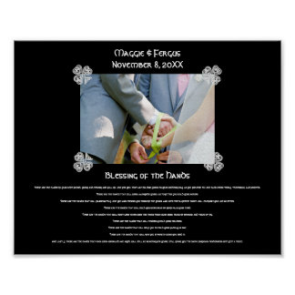 Blessing of the Hands Wedding Custom Photo Poster