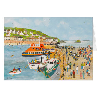 Blessing of the Lifeboat at Mousehole Card