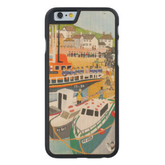 Blessing of the Lifeboat at Mousehole Carved Maple iPhone 6 Slim Case