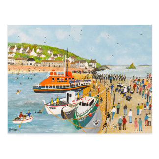 Blessing of the Lifeboat at Mousehole Postcard