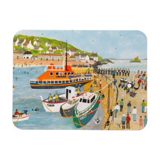Blessing of the Lifeboat at Mousehole Rectangular Photo Magnet