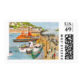 Blessing of the Lifeboat at Mousehole Stamp