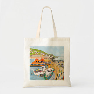 Blessing of the Lifeboat at Mousehole Tote Bag