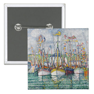 Blessing of the Tuna Fleet at Groix, 1923 2 Inch Square Button