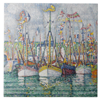 Blessing of the Tuna Fleet at Groix, 1923 Ceramic Tile