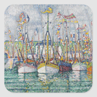 Blessing of the Tuna Fleet at Groix, 1923 Square Sticker
