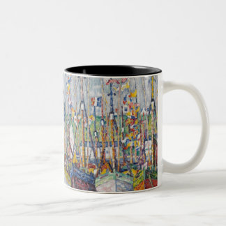 Blessing of the Tuna Fleet at Groix, 1923 Two-Tone Coffee Mug