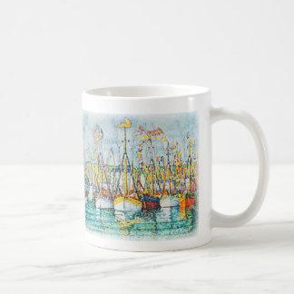Blessing of The Tuna Fleet at Groix by Paul Signac Coffee Mug