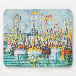 Blessing of The Tuna Fleet at Groix by Paul Signac Mouse Pad