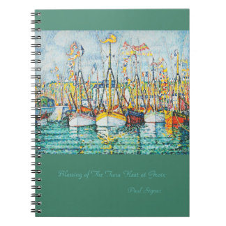 Blessing of The Tuna Fleet at Groix by Paul Signac Notebook