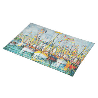 Blessing of The Tuna Fleet at Groix by Paul Signac Placemat