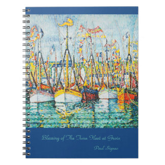 Blessing of The Tuna Fleet at Groix by Paul Signac Spiral Notebook