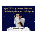 Blessing Prayer Dott Angel Night Postcard
