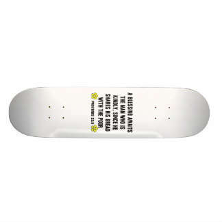 Blessing Proverbs 22 9 Skate Board Deck