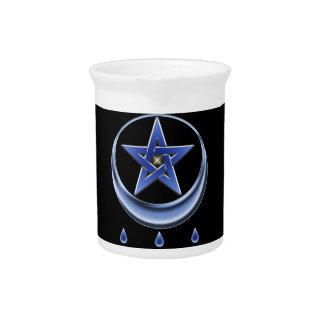 Blessing Symbol and pentagram Drink Pitcher