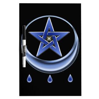 Blessing Symbol and pentagram Dry Erase Board