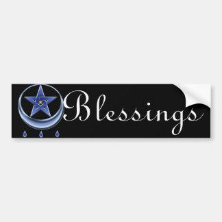 Blessing Symbol & Pentagram Bumper Sticker