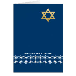 Blessing this Hanukkah Star of David Greeting Card