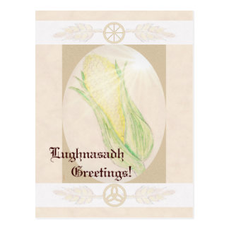 Blessings At Lughnasadh Pagan Witch Triquetra Postcard