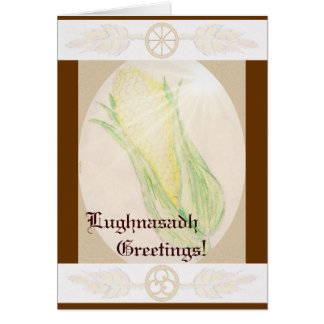 Blessings At Lughnasadh Pagan Witch Wicca Triskele Greeting Card