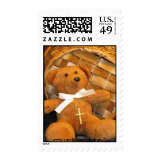 Blessings Bear Postage Stamp