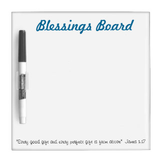Blessings Board: Christian whiteboard ideas Dry Erase Whiteboard
