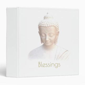 Blessings Buddha In White | Serene Meditative Binder