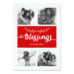 Blessings Collage | Holiday Photo Card Personalized Announcement