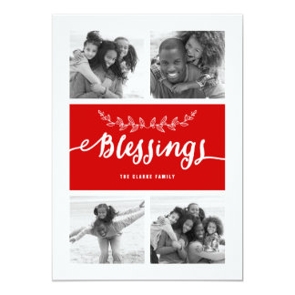 Blessings Collage | Holiday Photo Card
