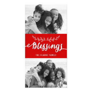 Blessings Collage   Modern Holiday Photo Card