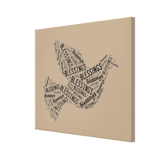 Blessings Dove, Inspirational Canvas