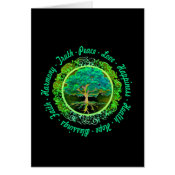 Blessings, Faith, Harmony Tree of Life in Green Card (<em>$3.15</em>)