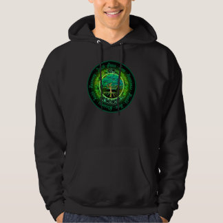 Blessings, Faith, Harmony Tree of Life in Green Hoodie