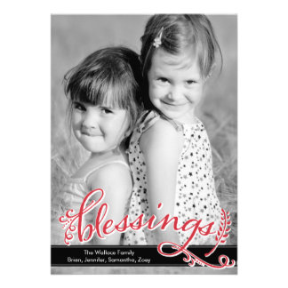 Blessings Holiday Photo Cards Personalized Invite