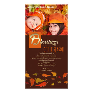 Blessings of the Season. Thanksgiving Photo Cards