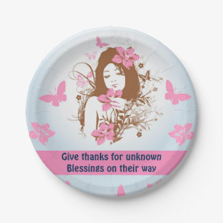 BLESSINGS paper plate
