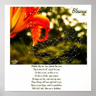 Blessings Poem Poster