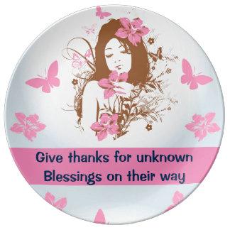 BLESSINGS porcelain plate