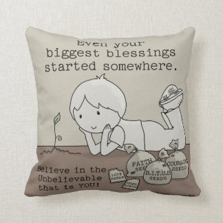 Blessings Started Somewhere Throw Pillows