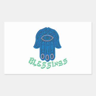 Blessings Rectangular Sticker