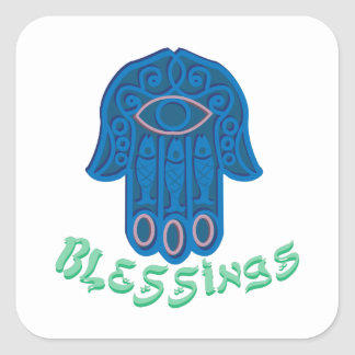 Blessings Square Sticker