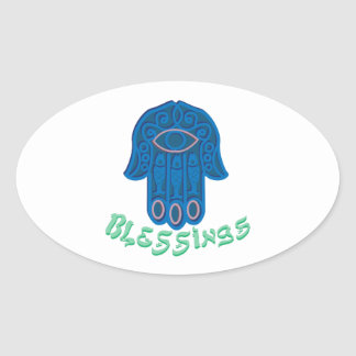 Blessings Oval Sticker