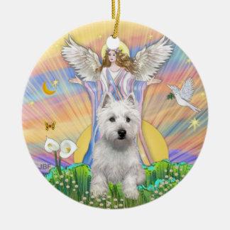 Blessings - Westie (P) Ceramic Ornament
