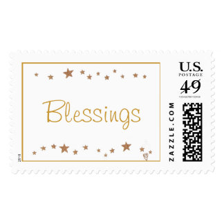 Blessings, with gold stars border stamps