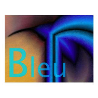 Bleu - Carte postale Postcard