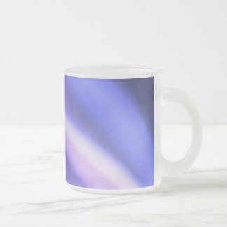 Bleu comme toi frosted glass coffee mug