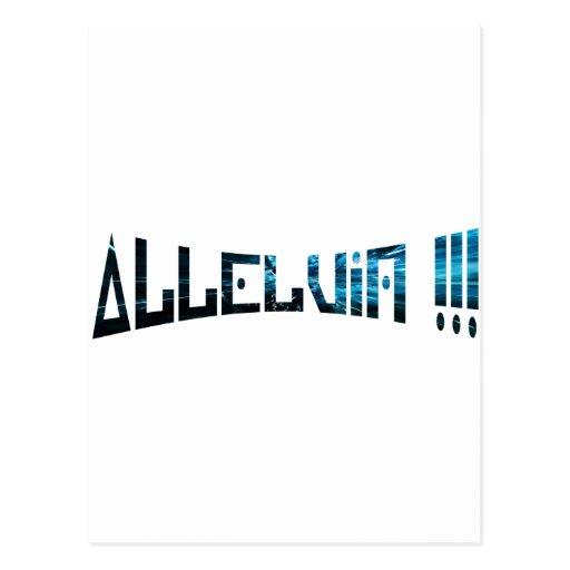 Bleu de Effets de la aleluya de los buceadores 3 Tarjetas Postales