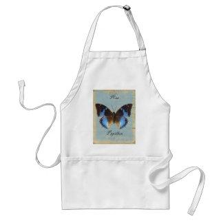 Bleu de Papillon Delantal